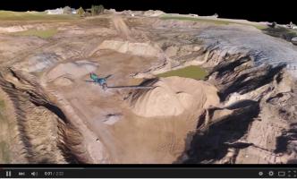Drone opmåling af grusgrav